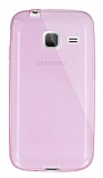 Dafoni Aircraft Samsung Galaxy J1 mini Ultra İnce Şeffaf Pembe Silikon Kılıf