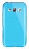 Dafoni Aircraft Samsung Galaxy J1 Ultra İnce Şeffaf Mavi Silikon Kılıf