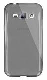 Dafoni Aircraft Samsung Galaxy J1 Ultra İnce Şeffaf Siyah Silikon Kılıf