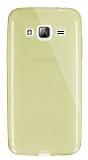 Dafoni Aircraft Samsung Galaxy J3 2016 Ultra İnce Şeffaf Gold Silikon Kılıf