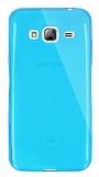 Dafoni Aircraft Samsung Galaxy J3 2016 Ultra İnce Şeffaf Mavi Silikon Kılıf