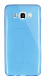 Dafoni Aircraft Samsung Galaxy J5 2016 Ultra İnce Şeffaf Mavi Silikon Kılıf