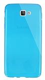 Dafoni Aircraft Samsung Galaxy J5 Prime Ultra İnce Şeffaf Mavi Silikon Kılıf