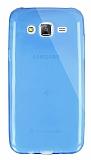 Dafoni Aircraft Samsung Galaxy J5 Ultra İnce Şeffaf Mavi Silikon Kılıf