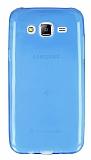 Samsung Galaxy J5 Ultra İnce Şeffaf Mavi Silikon Kılıf