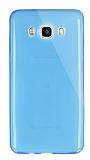 Dafoni Aircraft Samsung Galaxy J7 2016 Ultra İnce Şeffaf Mavi Silikon Kılıf