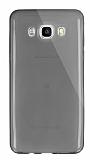 Dafoni Aircraft Samsung Galaxy J7 2016 Ultra İnce Şeffaf Siyah Silikon Kılıf