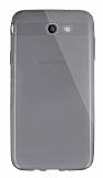 Dafoni Aircraft Samsung Galaxy J7 2017 Ultra İnce Şeffaf Siyah Silikon Kılıf