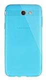 Dafoni Aircraft Samsung Galaxy J7 2017 Ultra İnce Şeffaf Mavi Silikon Kılıf
