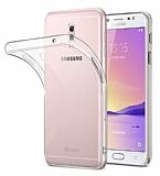 Dafoni Aircraft Samsung Galaxy C8 Ultra İnce Şeffaf Silikon Kılıf