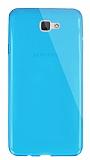Dafoni Aircraft Samsung Galaxy J7 Prime Ultra İnce Şeffaf Mavi Silikon Kılıf