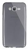 Dafoni Aircraft Samsung Galaxy J7 Ultra İnce Şeffaf Siyah Silikon Kılıf