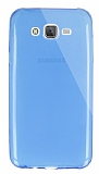 Dafoni Aircraft Samsung Galaxy J7 / Galaxy J7 Core Ultra İnce Şeffaf Mavi Silikon Kılıf