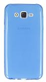 Samsung Galaxy J7 Ultra İnce Şeffaf Mavi Silikon Kılıf