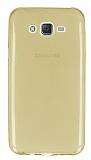Samsung Galaxy J7 Ultra İnce Şeffaf Gold Silikon Kılıf