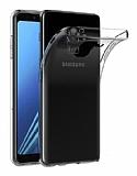 Dafoni Aircraft Samsung Galaxy J8 Ultra İnce Şeffaf Silikon Kılıf