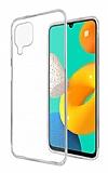 Dafoni Aircraft Samsung Galaxy M32 Ultra İnce Şeffaf Silikon Kılıf