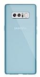 Dafoni Aircraft Samsung Galaxy Note 8 Ultra İnce Şeffaf Mavi Silikon Kılıf