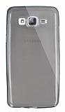 Dafoni Aircraft Samsung Galaxy On5 Ultra İnce Şeffaf Siyah Silikon Kılıf