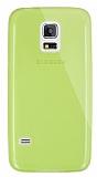 Dafoni Aircraft Samsung Galaxy S5 mini Ultra İnce Şeffaf Yeşil Silikon Kılıf