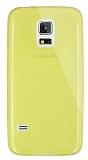 Dafoni Aircraft Samsung Galaxy S5 mini Ultra İnce Şeffaf Sarı Silikon Kılıf