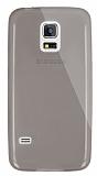 Dafoni Aircraft Samsung Galaxy S5 mini Ultra İnce Şeffaf Siyah Silikon Kılıf