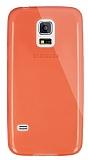 Dafoni Aircraft Samsung Galaxy S5 mini Ultra İnce Şeffaf Turuncu Silikon Kılıf