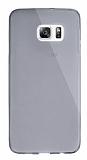 Dafoni Aircraft Samsung Galaxy S6 Edge Plus Ultra İnce Şeffaf Siyah Silikon Kılıf