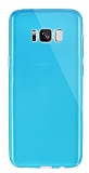 Dafoni Aircraft Samsung Galaxy S8 Plus Ultra İnce Şeffaf Mavi Silikon Kılıf