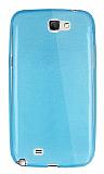 Dafoni Aircraft Samsung N7100 Galaxy Note 2 Ultra İnce Şeffaf Mavi Silikon Kılıf