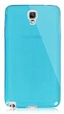 Dafoni Aircraft Samsung N7500 Galaxy Note 3 Neo Ultra İnce Şeffaf Mavi Silikon Kılıf