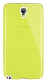 Dafoni Aircraft Samsung N7500 Galaxy Note 3 Neo Ultra İnce Şeffaf Sarı Silikon Kılıf