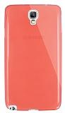 Dafoni Aircraft Samsung N7500 Galaxy Note 3 Neo Ultra İnce Şeffaf Nar Çiçeği Silikon Kılıf