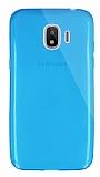 Dafoni Aircraft Samsung J2 Pro 2018 Ultra İnce Şeffaf Mavi Silikon Kılıf