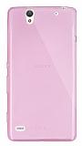 Dafoni Aircraft Sony Xperia C4 Ultra �nce �effaf Pembe Silikon K�l�f