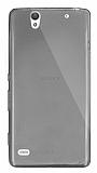 Dafoni Aircraft Sony Xperia C4 Ultra İnce Şeffaf Siyah Silikon Kılıf
