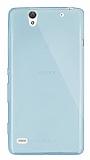 Dafoni Aircraft Sony Xperia C4 Ultra İnce Şeffaf Su Yeşili Silikon Kılıf