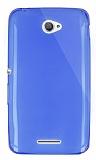 Dafoni Aircraft Sony Xperia E4 Ultra İnce Şeffaf Mavi Silikon Kılıf