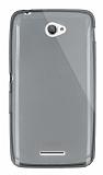 Dafoni Aircraft Sony Xperia E4 Ultra İnce Şeffaf Siyah Silikon Kılıf