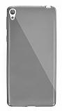 Dafoni Aircraft Sony Xperia E5 Ultra İnce Şeffaf Siyah Silikon Kılıf
