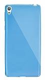 Dafoni Aircraft Sony Xperia E5 Ultra İnce Şeffaf Mavi Silikon Kılıf