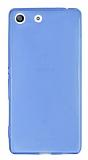 Sony Xperia M5 Ultra İnce Şeffaf Mavi Silikon Kılıf