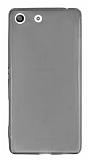 Sony Xperia M5 Ultra İnce Şeffaf Siyah Silikon Kılıf