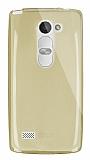 Dafoni Aircraft LG Leon Ultra İnce Şeffaf Gold Silikon Kılıf