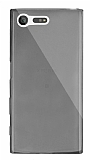 Dafoni Aircraft Sony Xperia X Compact Ultra İnce Şeffaf Siyah Silikon Kılıf