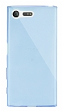 Dafoni Aircraft Sony Xperia X Compact Ultra İnce Şeffaf Mavi Silikon Kılıf