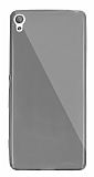 Dafoni Aircraft Sony Xperia XA Süper İnce Şeffaf Siyah Silikon Kılıf