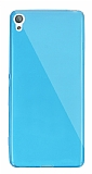 Dafoni Aircraft Sony Xperia XA Süper İnce Şeffaf Mavi Silikon Kılıf