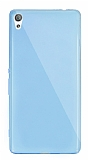 Dafoni Aircraft Sony Xperia XA Ultra Süper İnce Şeffaf Mavi Silikon Kılıf