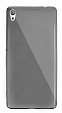 Dafoni Aircraft Sony Xperia XA Ultra Süper İnce Şeffaf Siyah Silikon Kılıf